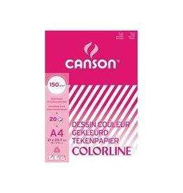 Canson Canson gekleurd tekenpapier Colorline ft 21 x 29,7 cm (A4)