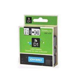 Dymo Dymo D1 tape 6 mm, zwart op wit