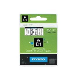 Dymo Dymo D1 tape 12 mm, zwart op wit