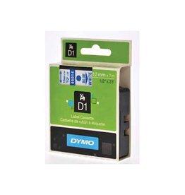 Dymo Dymo D1 tape 12 mm, blauw op wit