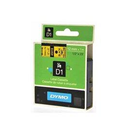 Dymo Dymo D1 tape 12 mm, zwart op geel