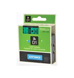 Dymo Dymo D1 tape 19 mm, zwart op groen