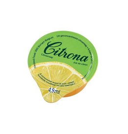 Citrona Citrona citroensap, pak van 120 cups van 4,9 ml