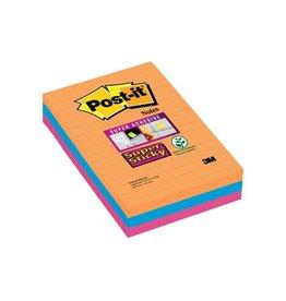 Post-it Post-it Super Sticky Notes Bangkok 101x152mm 90 blaadjes 3bl