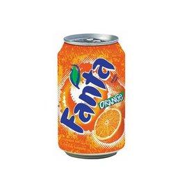 Coca Cola Company Fanta Orange frisdrank, blik van 33 cl, pak van 24 stuks