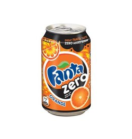 Coca Cola Company Fanta Zero Orange frisdrank, blik van 33 cl, 24 stuks