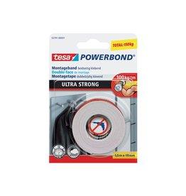 Tesa Tesa montagetape Powerbond Ultra Strong,19mmx1,5m,op blister