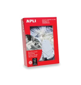 Apli Apli draadetiketten ft 7x19mm (bxh) (383), doos van 1.000st