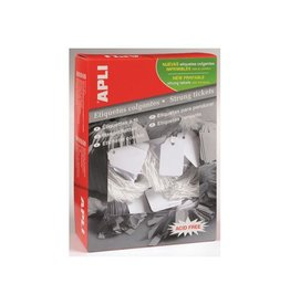 Apli Apli draadetiketten ft 9x24mm (bxh) (384), doos van 1.000st