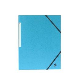 5 Star 5 Star elastomap 3 kleppen, lichtblauw, pak van 10 stuks