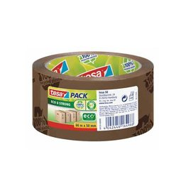 Tesa Tesa verpakkingsplakband Eco, ft 50 mm x 66 m, bruin [6st]