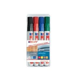 Edding Edding permanent marker e-3300 blister van 4 stuks