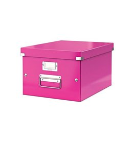 Leitz Leitz WOW opbergdoos Click & Store, ft A4, roze