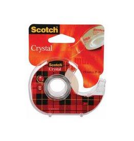 Scotch Scotch Plakband Crystal 19mmx25 m, 1 afroller met 1 rolletje