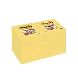 Post-it Post-it Super Sticky notes 47,6x47,6mm geel 90vel 12 blokken