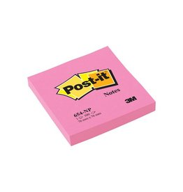 Post-it Post-it Notes, ft 76 x 76 mm, neonroze, blok van 100 vel