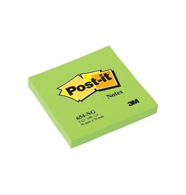 Post-it Post-it Notes, ft 76 x 76 mm, neongroen, blok van 100 vel