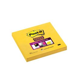 Post-it Post-it Super Sticky notes, 76x76mm, geel, blok 90 vel