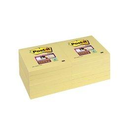 Post-it Post-it Super Sticky notes, 76x76mm, geel, 90vel, 12 blokken