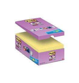 Post-it Post-it Super Sticky notes 76x127mm geel 90vel 14+2 gratis