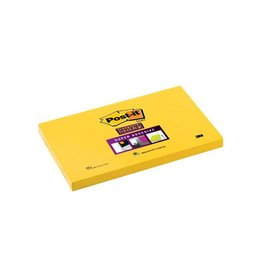 Post-it Post-it Super Sticky notes, 76x127mm, neongeel, blok 90 vel