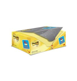 Post-it Post-it Notes, 76 x127mm, geel, 100vel,pak van 16 + 4 gratis