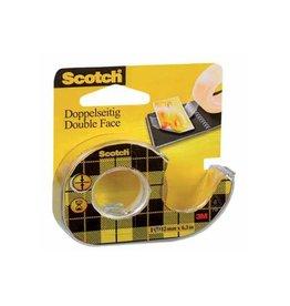 Scotch Scotch dubbelzijdige plakband ft 12 mm x 6,3 m + afroller