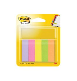 Post-it Post-it Notes Markers, 15x50mm, assorti, 5 blokjes 100 vel