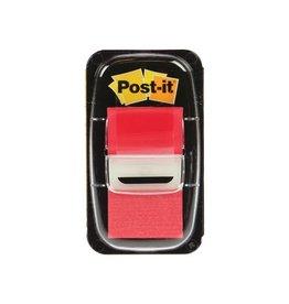 Post-it Post-it Index standaard, 25,4x43,2mm,rood, houder met 50tabs