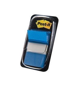 Post-it Post-it Index standaard, 25,4x43,2mm blauw, houder 50 tabs