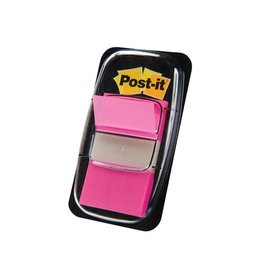 Post-it Post-it Index standaard, 25,4x43,2mm, roze, houder 50 tabs