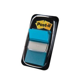 Post-it Post-it Index standaard 25,4x43,2mm turkoois houder 50 tabs