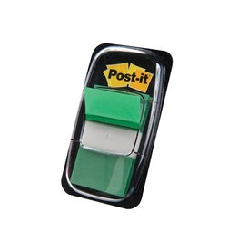 Post-it Post-it Index standaard, 25,4x43,2mm, groen, houder 50 tabs