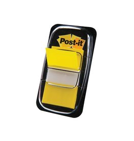 Post-it Post-it Index standaard, 25,4x43,2mm, geel, houder 50 tabs