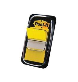 Post-it Post-it Index standaard, 25,4x43,2mm,geel, houder met 50tabs