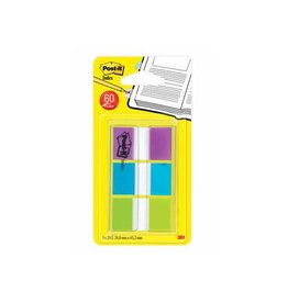 Post-it Post-it Index standaard, 25,4x43,2mm 3 kl. 20 tabs per kleur
