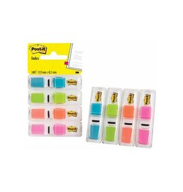 Post-it Post-it Index Smal 4x35 tabs trk. lichtgr. oranje en rz.