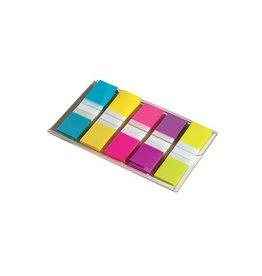 Post-it Post-it Index Smal, 12x43 mm, 5 kl., 20 tabs per kleur