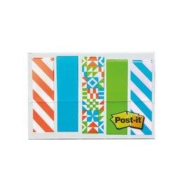 Post-it Post-it Index, Geos motief collectie, 11,9mmx43,2mm, 5x20st