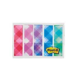 Post-it Post-it Index,plaid motive collection, 11,9mmx43,2mm, 5x20st