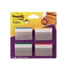 Post-it Post-it Index Strong 50,8x38mm voor hangmappen 24 tabs 4 kl.