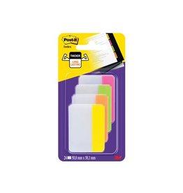 Post-it Post-it Index Strong, 38x50,8mm 4 kleuren 6 tabs per kleur