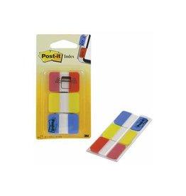 Post-it Post-it Index Strong, 25,4x38mm, set 3 kl. 22 tabs per kleur