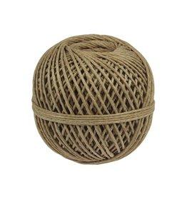 Merkloos Vlaskoord touw uit 3 draden, bol van 140 g, +/- 65 m