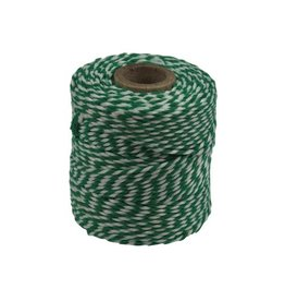 Merkloos Katoentouw, groen-wit, klos van 50 g, ongeveer 45 m