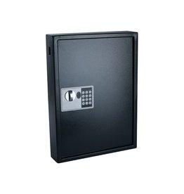 Pavo Sleutelkast, voor 50 sleutelhangers, ft 10x40x55cm, zwart