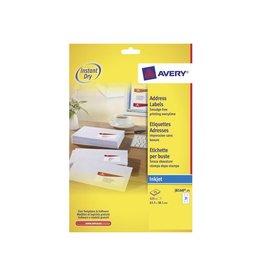 Avery Avery J8160-25 adresetiketten 63,5x38,1mm525 etiketten wit