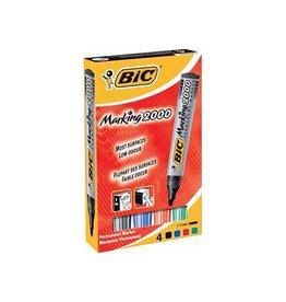 Bic Bic permanent marker 2000, doos met 4st in assorti