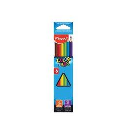 Maped Maped kleurpotlood Color'Peps 6 potloden