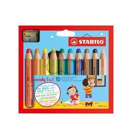 Stabilo Stabilo kleurpotlood Woody 3 in 1